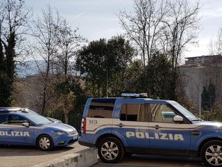 Volanti della Polizia in azione