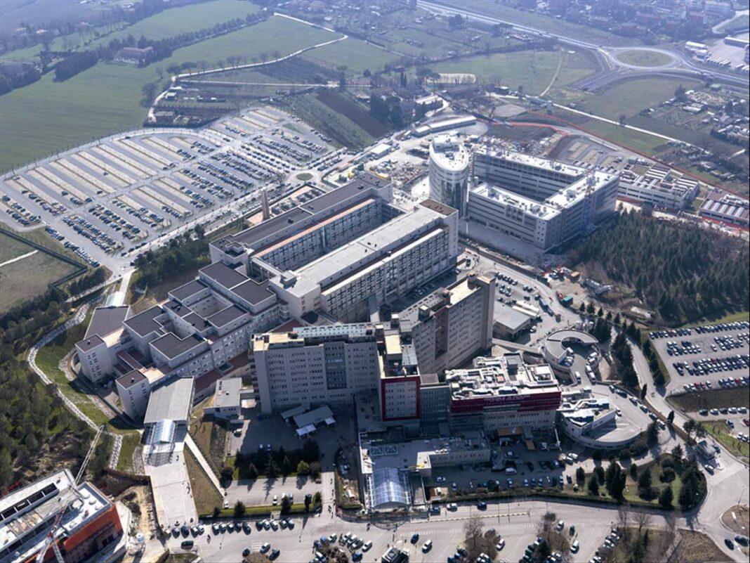 Una veduta dell'ospedale di Perugia