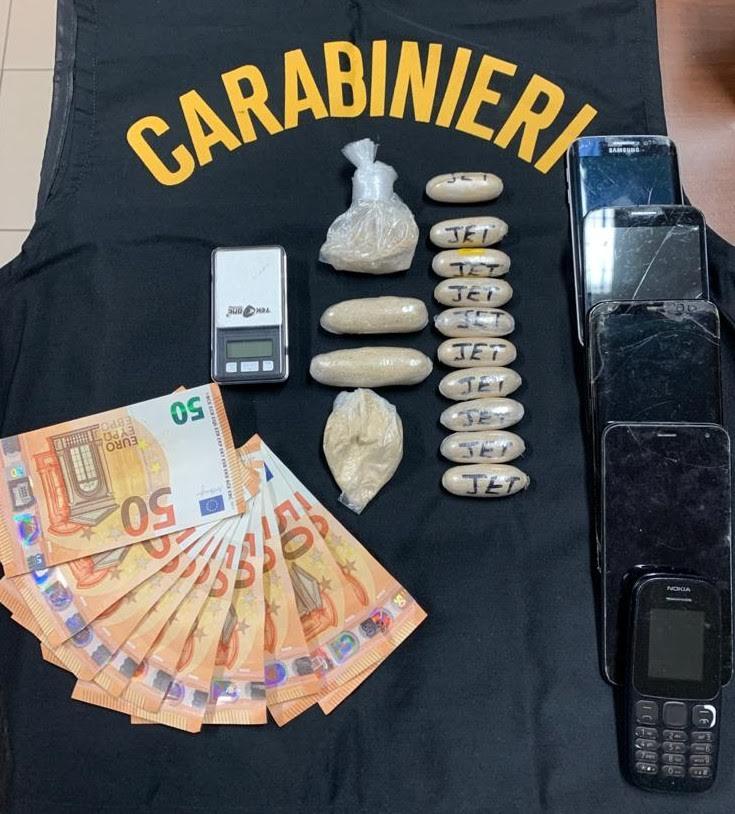 I soldi e la droga sequestrata