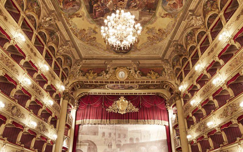 L'interno del teatro Morlacchi