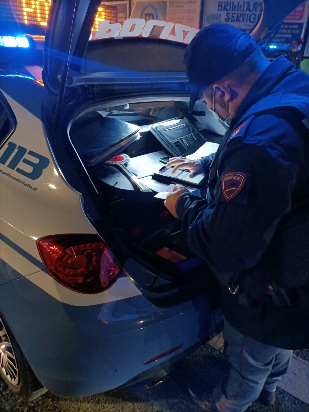 Un pattuglia della Polizia stradale